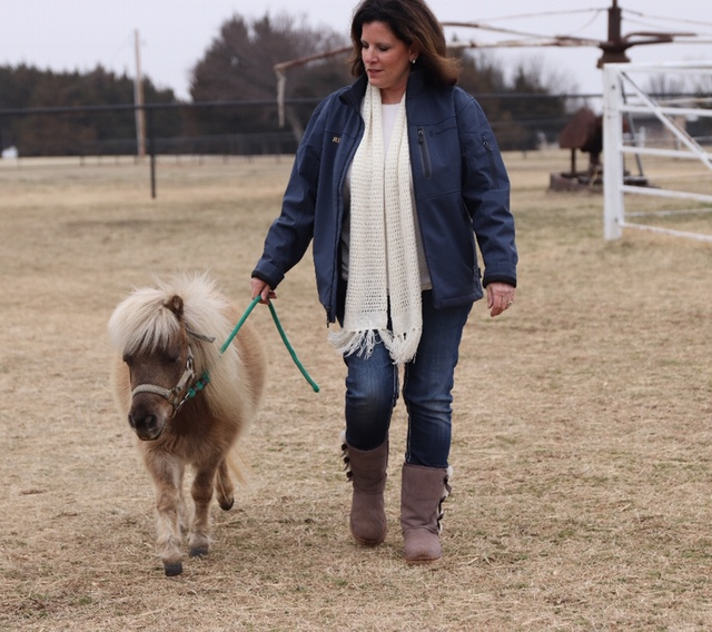Rita with her mini horse